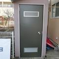 ボイラー室のドア交換(^^♪
